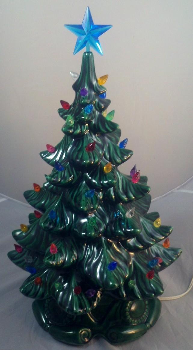 Vintage Atlantic Mold Ceramic Christmas Tree Amp Base 19