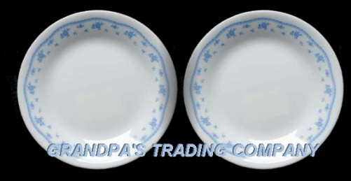 Corelle MORNING Blue 40040040 B B Cake Plates Retired Floral Corning Awesome Discontinued Corelle Patterns