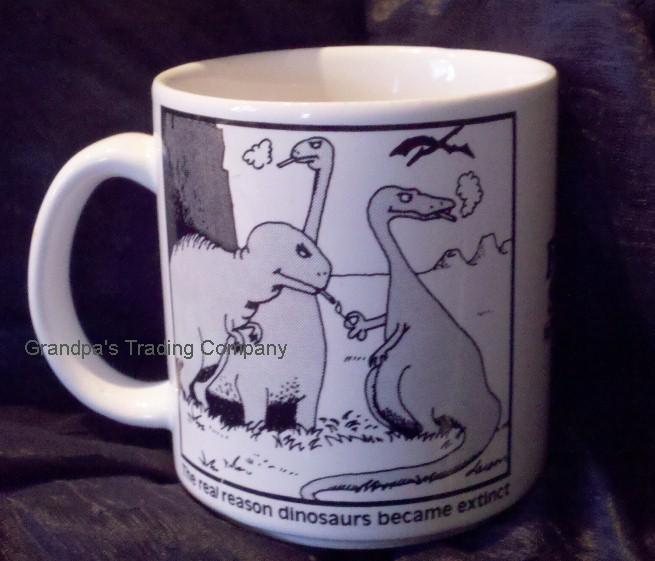 far side dinosaurs smoking
