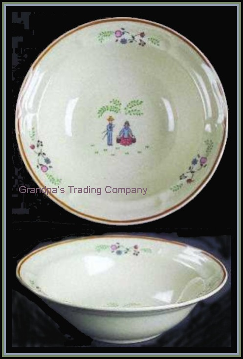 2 newcor stoneware our country 7 farm soup cereal bowls ebay for Brick oven stoneware jardin bleu