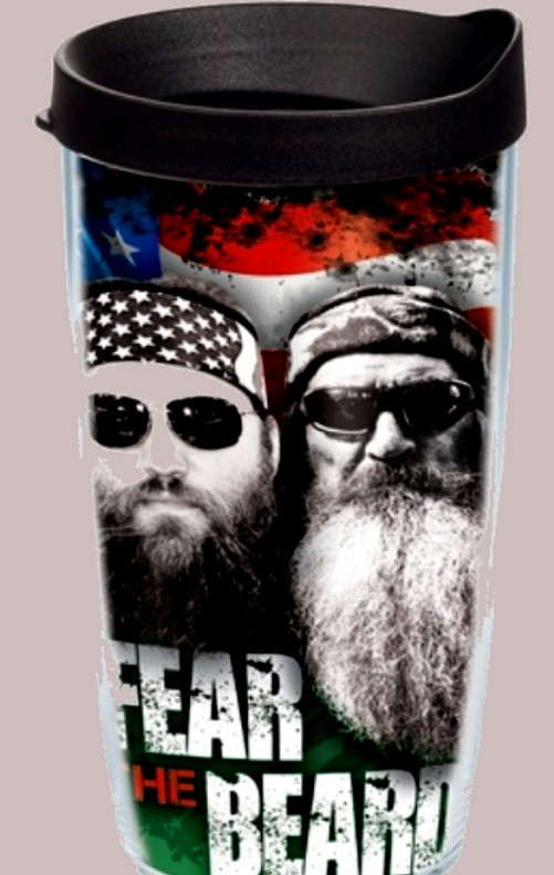 """Details about Tervis DUCK DYNASTY Commander 16 oz """"FEAR THE BEARD"""